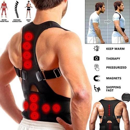 Magnetic Therapy Back Posture Corrector Adjustable Lumbar Back Shoulder Support Brace Belt Clavicle Fracture Correction Trainer