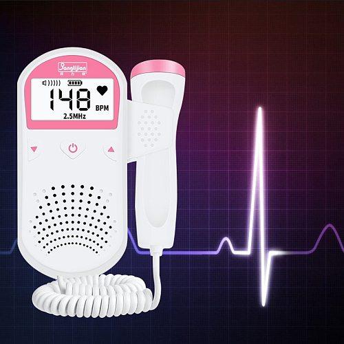 Baby Monitor Fetal Doppler Ultrasound Baby Heartbeat Detector Pregnancy Household Sonar Doppler For Pregnant 2.5M No Radiation