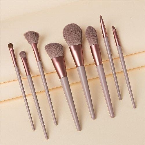 8Pcs Professional Makeup Brushes Set Powder Blush Foundation Eyeshadow Make Up Fan Brushes Cosmetic Kwasten Sets