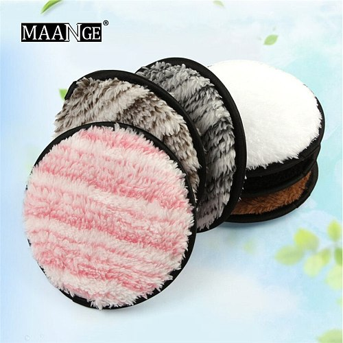 Makeup Remover Towel MAANGE 1Pc Microfiber Pads Remover Soft Towel Face Cleansing Makeup Clear Sponge 30