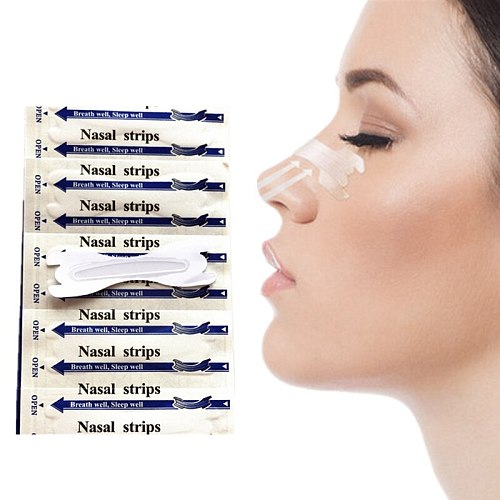 1000pcs/lot(66x19mm) Snore Free Better Breathe Nasal Strips Relieve Nasal Congestion Patch Health Care Products