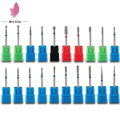 Most cost-effective Diamond Nail Drill Bit Electric Manicure Machine Drills Bits Accessories Rotary Burr Mills Cutter Tools