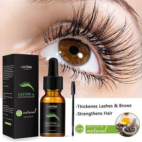 10ml Organic Castor Oil Serum Eyelash Growth Treatments Lash Booster Eyebrow Enhancing Serum Stimulate For Eyelash Eyebrow Hair