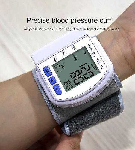 Medical Digital LCD Automatic  Wrist Blood Pressure Monitor Bp Tonometer Meter Wrist Sphygmomanometer Tansiyon Aleti Tensiometer
