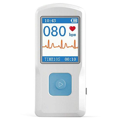 CONTEC Heart Rate Monitor ECG EKG Machine Color Screen ECG Monitor Handheld Heart Machine BT USB PC Software Health Care
