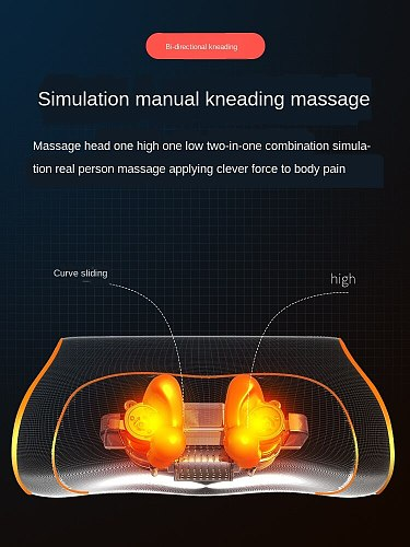 Wireless hot compress multi-functional massage pillow professional multi-part home physiotherapy pain relief pad for back waist