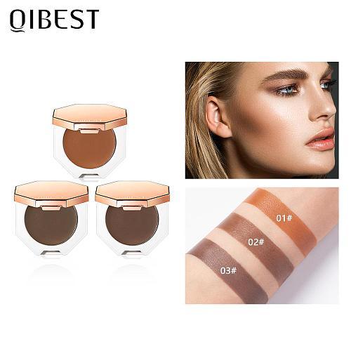 QIBEST Face Makeup Bronzer Palette Cream Silky Contouring Makeup Cosmetic Highlighter Bronzer Palette Makeup Face Illuminator