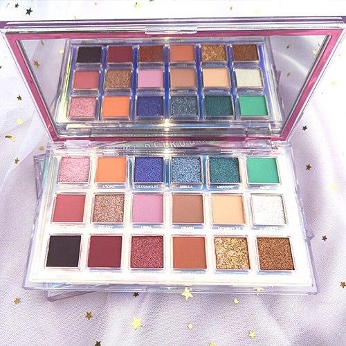 18 color eye shadow plate sequins pearl no dizzy makeup mercury makeup Waterproof Eyeshadow Palette Cosmetic