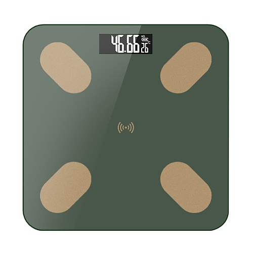 Digital Body Fat Scale Body Weight Scale Large LED Display Body Composition Monitor Health Analyzer with Smartphone APP