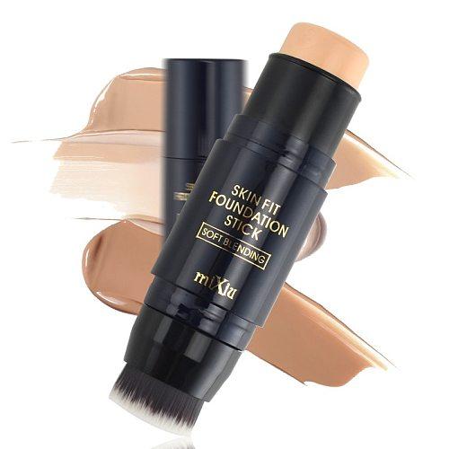 1pc Makeup Foundation Shadow Concealer Stick With Makeup Brushes Maquiagem Contour Palette Creamy Coverage Oil-Control Beauty