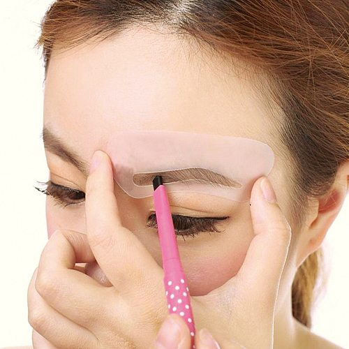 24 Pcs Reusable Eyebrow Stencil Set Eye Brow DIY Drawing Guide Styling Shaping Grooming Card Easy Makeup Beauty eyebrow templat