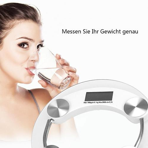 Electronic Glass LCD Body Weight Scale 150KG Household Bathroom Women Weight Health Scale Impact-resistant Glass