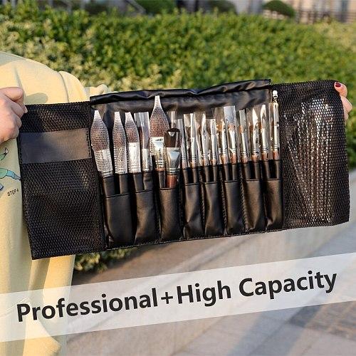 24 Pockets Black Multi-function Makeup Brushes Bag Professional Cosmetic Tools Storage Holder for Brushes dlya kistey organayzer