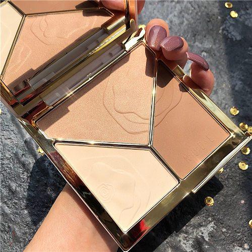 NEW 3D Bronzer Highlighter For Face Makeup Stick Cream Texture Contour iluminador Makeup Highlighter Bronzer