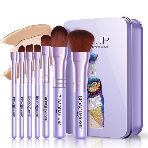 2019 New Hot 7Pcs Makeup Brushes Set Eye Lip Face Foundation Make Up Brush Kit Soft Fiber Hair Tools Fastshipping