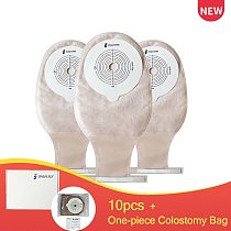 10pcs~One-piece Drainable Colostomy Bag with Steel Wire Closure,Portable&Odor-free Opaque Stoma Care Bags,Cut size 15-65mm