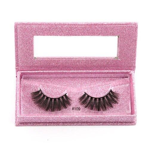 MEISHENJIE private logo wholesale mink eyelashes natural 3d mink lashes handmade soft fluffy false eyelash fashion for make ups