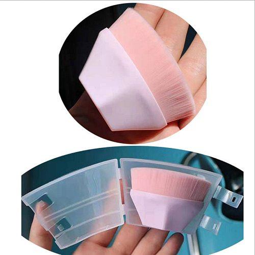 Hexagon Rhombic Short Handle Magic Foundation Makeup Brush High Quality Liquid BB Cream Blush Powder Brush