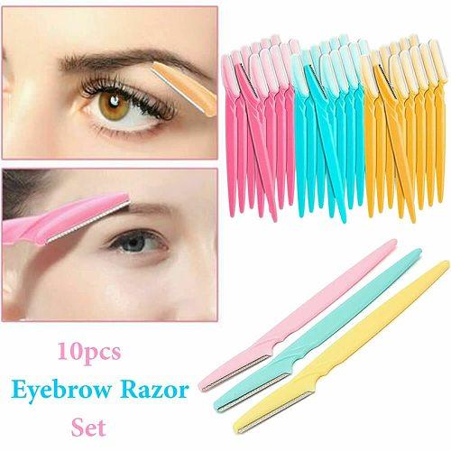 6/10pcs/set Eyebrow Trimmer Safe Blade Eyebrow Shaper Razor Face Hair Remover Scraper Shaver Cutter Makeup Beauty Tools Set