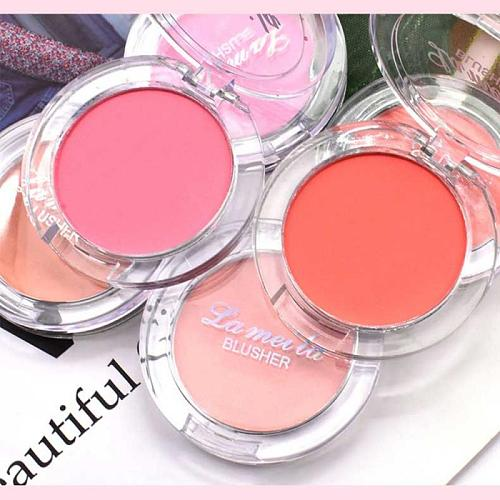 Single Color Blush Makeup Palette Milk Tea Blush Professional Face Mineral Pigment Blusher Powder Natural Cheek Tint TSLM2