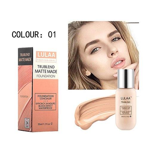 Professional Full Coverage Liquid Foundation Face Base Makeup Natural Color Concealer Whitening Lasting Primer Makeup