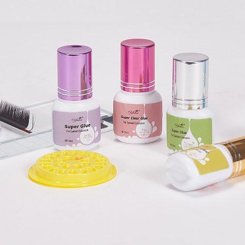 Yelix eyelash extension glue 1-2 Sec Fast Dry individual lashes glue Black/Clear eyelash glue False Eyelashes lash extension