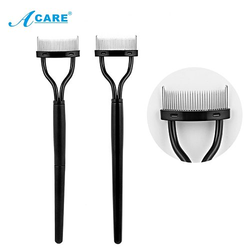 ACARE Eyelash Curler Beauty Makeup Lash Separator Foldable Metal Eyelash Brush Comb Mascara Curl Beauty Makeup Cosmetic Tool