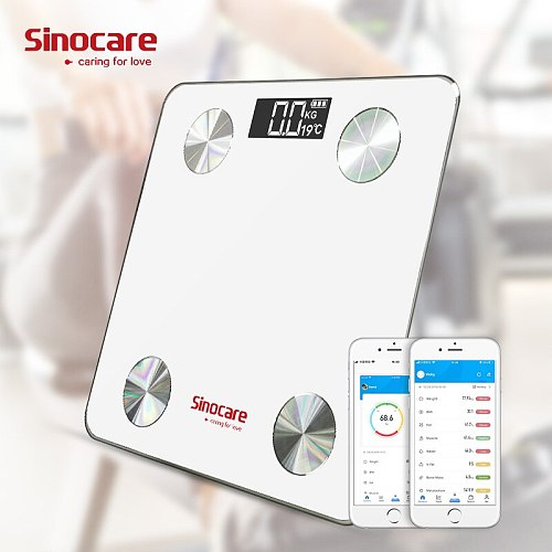 Sinocare Bluetooth scales medical-devices body fat scale LED Display  Muscle Mass BMI