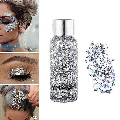 9 Color Hot Eyeshadow Glitter Gel Makeup Liquid Pigments Party Festival  Sequins Cream for Face/Highlighter/Body/Hair TSLM2