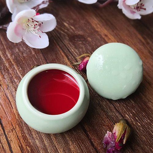 10 Colors Matte Eatable Lipstick Flowers Rouge Long Lasting Blush  Eyeshadow 3 in 1 Brighten Concealer Makeup  Ceramic Box