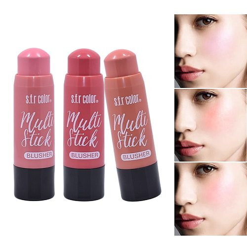 2020 New Makeup Cream Blush Stick Face Makeup Shimmer Contour Cream Cheek Blusher Cosmetics Brighten Pink Blush Make Up