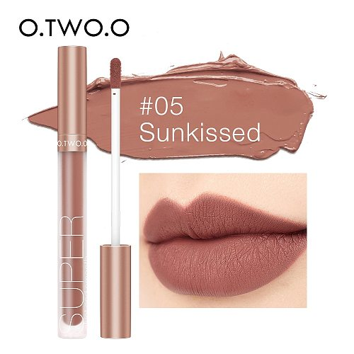 O.TWO.O Pigment For Lip Gloss Matte Velvet Makeup Waterpoof Long Lasting Liquid Lipstick Nude Brown Red Color For Women