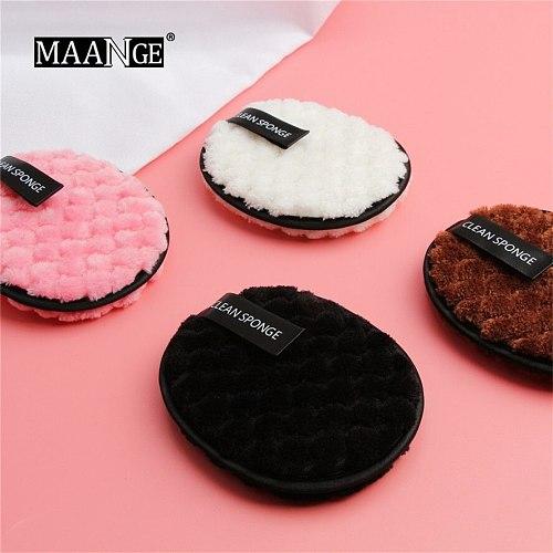 Soft Microfiber Makeup Remover Towel MAANGE 1Pc Microfiber Pads Remover Soft Towel Face Cleansing Makeup Clear Sponge 0321#30