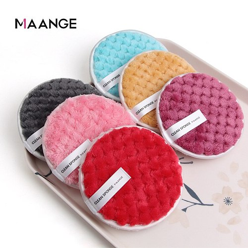 Quality Goods Reusable Makeup Remover Pads Cotton Wipes Microfiber Make Up Removal Sponge Cotton Cleaning Pads Tool MAANGE