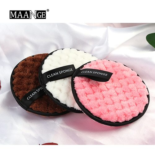 MAANGE 2PCS/3PCS Microfiber Makeup Remover Reusable Cleansing Makeup Face Cleansing Towel Cotton Double layer Nail Cleaning Wipe