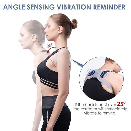 Smart Posture Corrector With Intelligent Sensor Vibration Reminder Adjustable Back Brace Support Posture Trainer Corrector