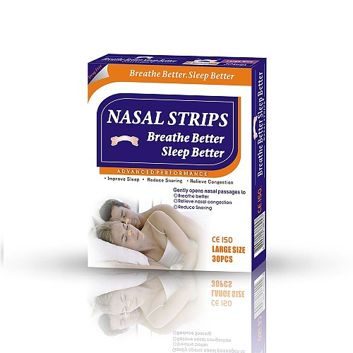 900pcs=30boxes/lot(66x19mm) Hot Sell Nasal Strip Popular Anti Snore Nose Dilators Strips to Breathe Better