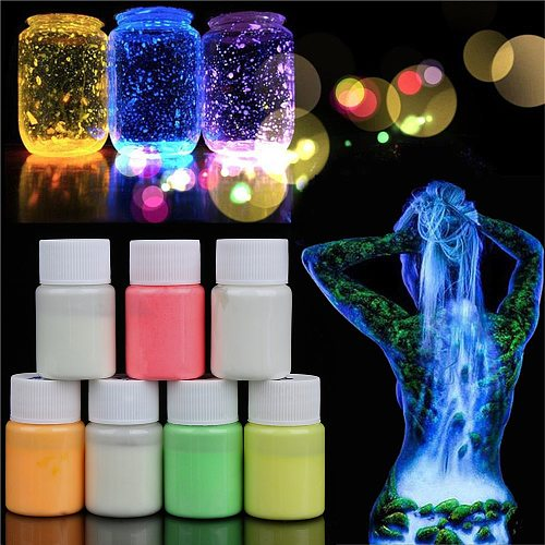 Fashion Colorful 20g Waterproof Acrylic Luminous Paint DIY Bright Pigment Party Body Decoration Glow In the Dark
