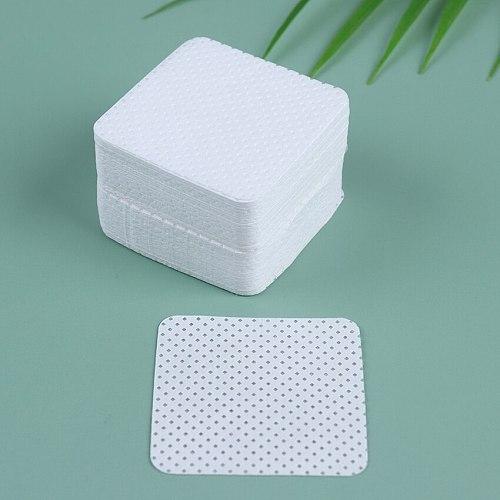 100PCS/Pack Lint-Free Paper Cotton Wipes Eyelash Glue Remover Wipe Clean Cotton Sheet Nails Art Cleanin Cleaner Pads