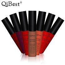 Qibest Brand Makeup Lipstick Matte Lipstick Brown Nude Black Color Liquid Lipstick Lip Gloss Matte Batom Matte Maquiagem Makeup