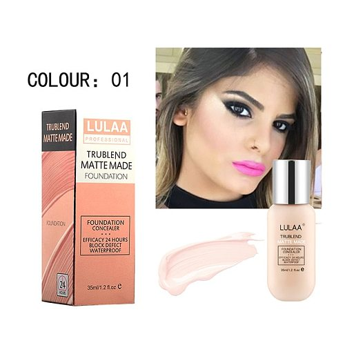 LULAA Makeup Foundation Liquid Long-lasting Full Coverage Face Concealer Base Matte Cushion Foundation Cosmetic BB CC Cream