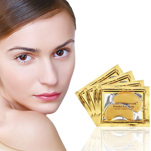Eye Mask 30pcs=15packs High Quality Gold Crystal Collagen Eye Patches Dark Circle Remover Colageno Moisturizing Anti-Aging