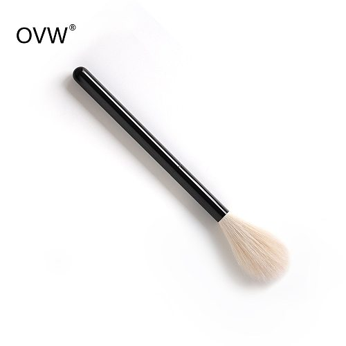 OVW DLH Undyed Goat Hair Fluffy Soft Blusher Make up Brush Highlight Brush Black Handle brochas maquillaje profesional