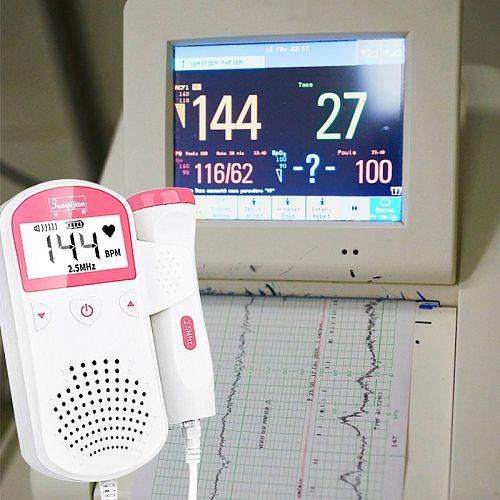 Doppler Fetal Baby Ultrasound Doppler Portable Heart Rate Detector Upgraded 3.0MHz Detector Home Pregnant Fetal Monitor