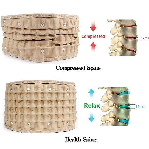 Inflatable Waist Belt Pain Relief Back Decompression Belt Lumbar Support Lower Back Traction Device For Women & Men