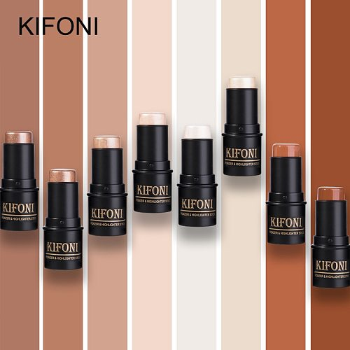 KIFONI makup Bronzer&Highlighter Stick 8 Colors 3D Contour Makeup Concealer Pen Face Waterproof Glow Brighten Stick Cosmetic