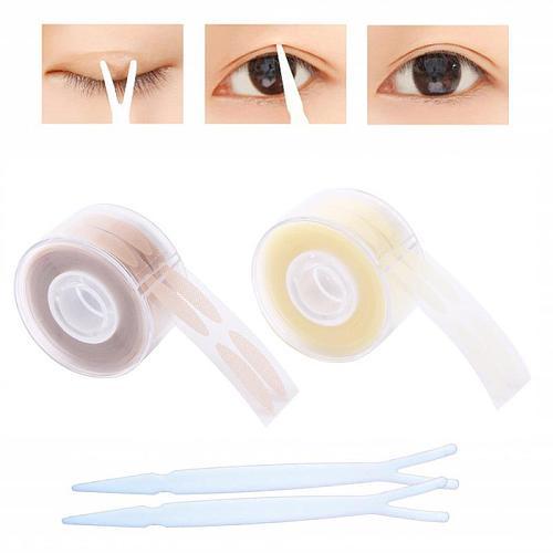 600pcs Eye Lift Strips Double Eyelid Tape Clear Gray Eyelid Stripe Big Eyes Invisible Double Fold Eyelid Sticker Makeup Tool