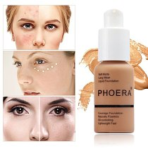PHOERA Mineral Touch Whitening Concealer Facial Base Cream Brighten Moisturizer Face Liquid Foundation Makeup Primer TSLM1