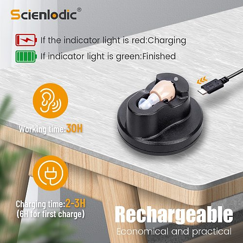 Hearing Aid Rechargeable Hearing Device ITE Ear Hearing Aids for The Elderly Audifonos Sound Amplifier for Deafness