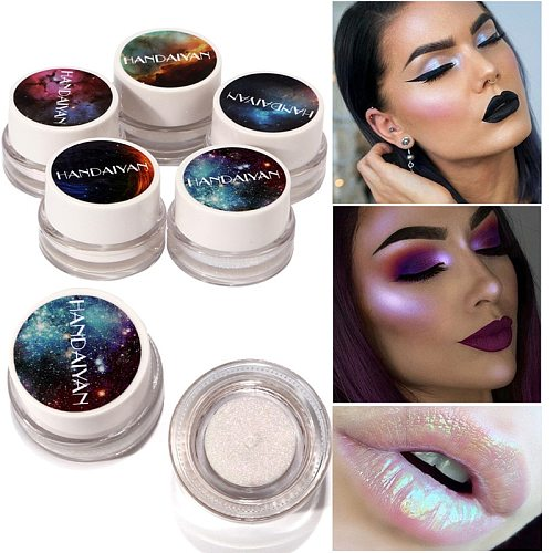 New 5 Colors Makeup Glitter 1Box Multifunctional Highlight Makeup Powder High Light Eyeshadow Cosmetic Glitter Powder Pretty